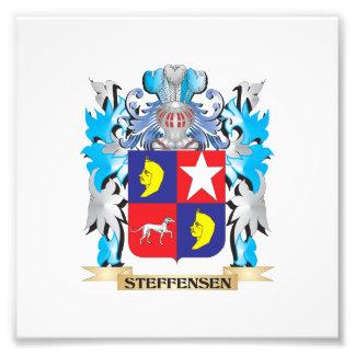 Escudo de armas de Steffensen - escudo de la Fotografías