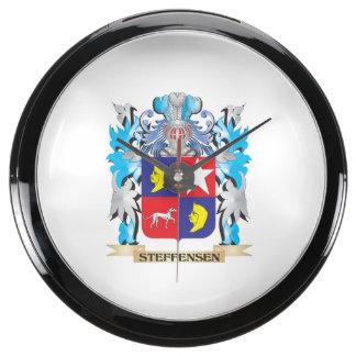 Escudo de armas de Steffensen - escudo de la Reloj Aquavista