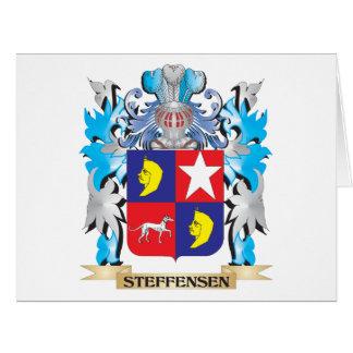Escudo de armas de Steffensen - escudo de la Tarjeta De Felicitación Grande