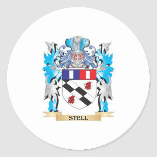 Escudo de armas de Stell - escudo de la familia Pegatina Redonda