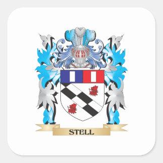 Escudo de armas de Stell - escudo de la familia Pegatina Cuadrada