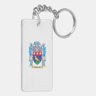 Escudo de armas de Stella - escudo de la familia Llavero Rectangular Acrílico A Doble Cara