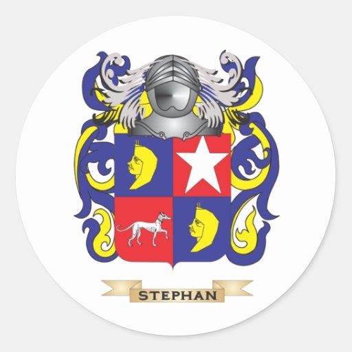 Escudo de armas de Stephan (escudo de la familia) Pegatina Redonda