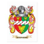 Escudo de armas de Stephens (escudo de la familia) Tarjetas Postales