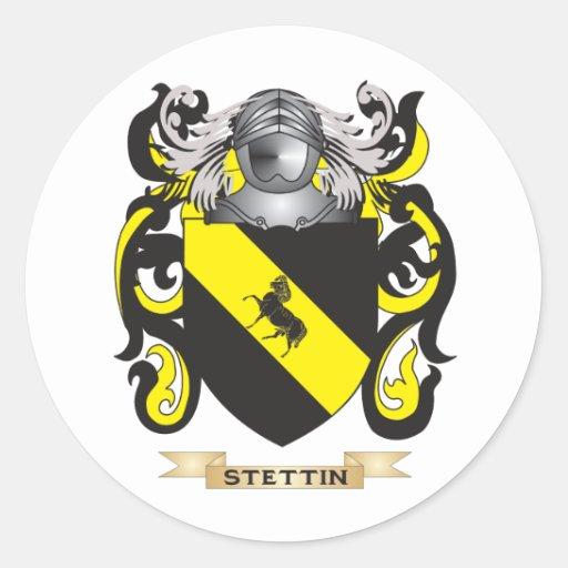 Escudo de armas de Stettin (escudo de la familia) Pegatinas Redondas