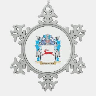 Escudo de armas de Stockley - escudo de la familia Adorno De Peltre En Forma De Copo De Nieve