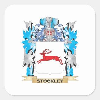 Escudo de armas de Stockley - escudo de la familia Pegatina Cuadrada