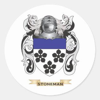 Escudo de armas de Stoneman (escudo de la familia) Pegatina Redonda
