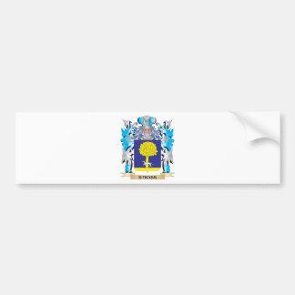 Escudo de armas de Strass - escudo de la familia Pegatina Para Auto