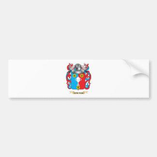 Escudo de armas de Stritch (escudo de la familia) Pegatina De Parachoque