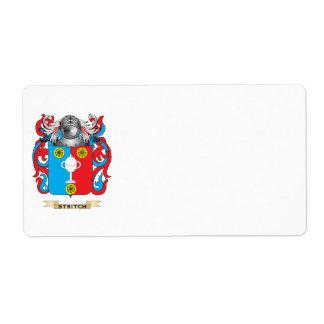 Escudo de armas de Stritch (escudo de la familia) Etiquetas De Envío