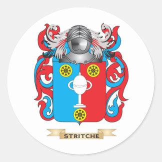 Escudo de armas de Stritche (escudo de la familia) Pegatinas Redondas