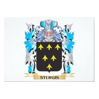 Escudo de armas de Sturgis - escudo de la familia Invitación 12,7 X 17,8 Cm