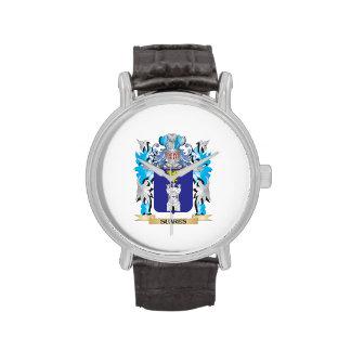 Escudo de armas de Suares - escudo de la familia Relojes De Pulsera