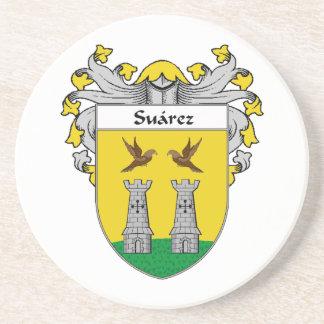 Escudo de armas de Suárez/escudo de la familia Posavaso Para Bebida