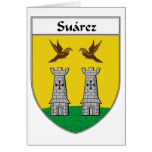 Escudo de armas de Suárez/escudo de la familia Tarjeta De Felicitación