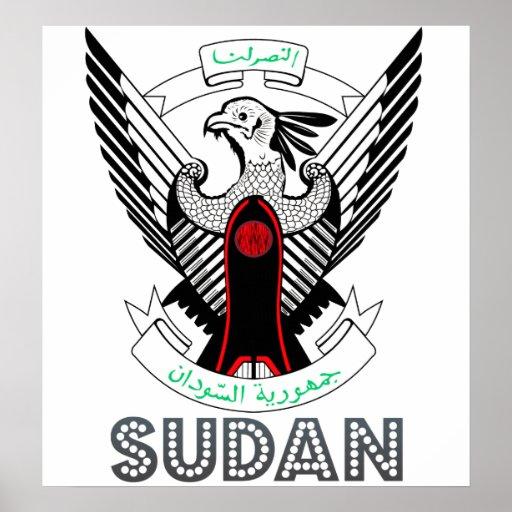 Escudo de armas de Sudán Póster