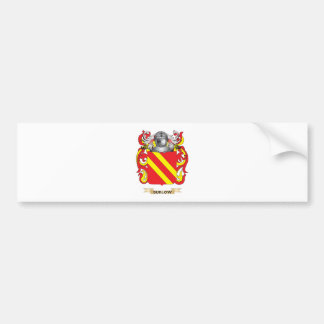 Escudo de armas de Sudlow (escudo de la familia) Pegatina De Parachoque