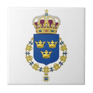 Escudo de armas de Suecia Azulejo Ceramica