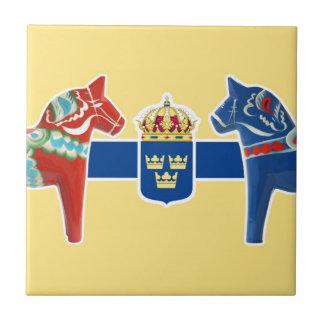 Escudo de armas de Suecia Dala Azulejo