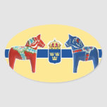 Escudo de armas de Suecia Dala Pegatina Ovalada