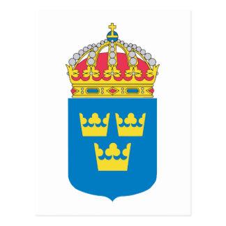 Escudo de armas de Suecia (menos) Tarjetas Postales