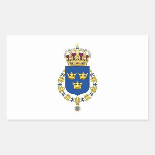 Escudo de armas de Suecia Rectangular Altavoz