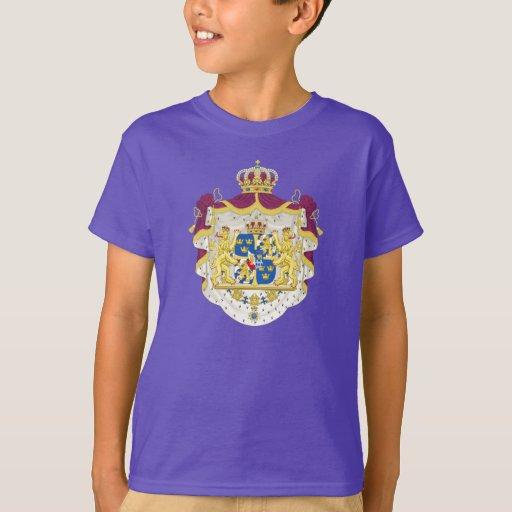 Escudo de armas de Suecia Remeras