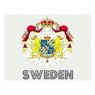Escudo de armas de Suecia Postales