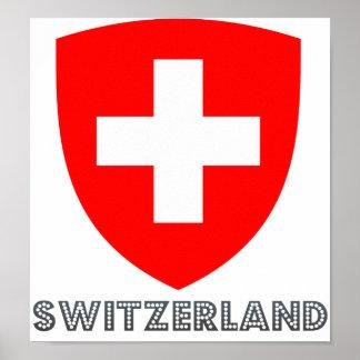 Escudo de armas de Suiza Poster