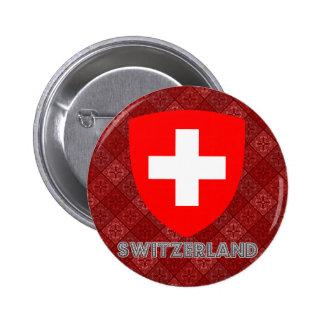 Escudo de armas de Suiza Pin Redondo De 2 Pulgadas