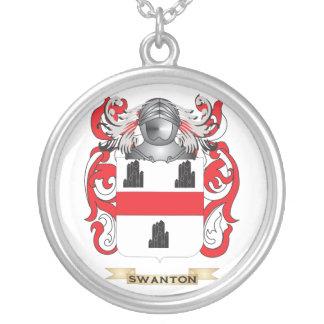Escudo de armas de Swanton (escudo de la familia) Pendientes Personalizados