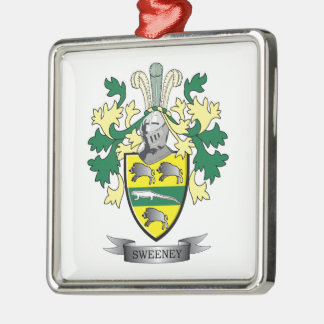 Escudo de armas de Sweeney Adorno Navideño Cuadrado De Metal