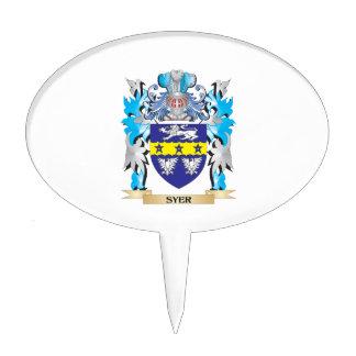 Escudo de armas de Syer - escudo de la familia Decoraciones De Tartas