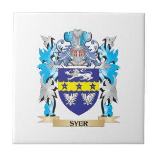 Escudo de armas de Syer - escudo de la familia Azulejo Cuadrado Pequeño