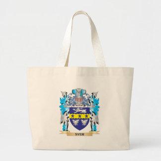 Escudo de armas de Syer - escudo de la familia Bolsa Tela Grande