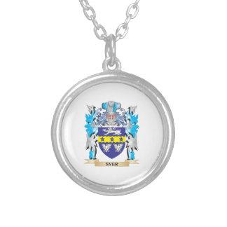 Escudo de armas de Syer - escudo de la familia Colgante Redondo