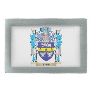 Escudo de armas de Syer - escudo de la familia Hebilla Cinturon Rectangular