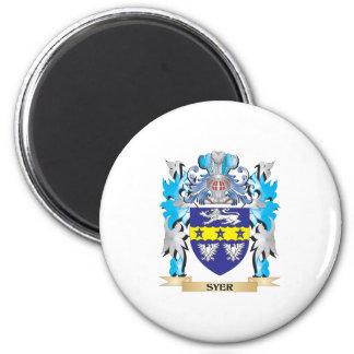 Escudo de armas de Syer - escudo de la familia Imán Redondo 5 Cm