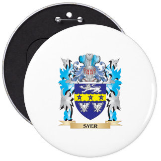 Escudo de armas de Syer - escudo de la familia Pin Redondo 15 Cm