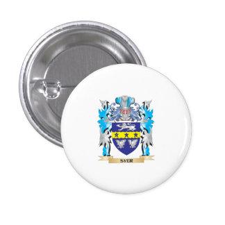 Escudo de armas de Syer - escudo de la familia Pin Redondo 2,5 Cm