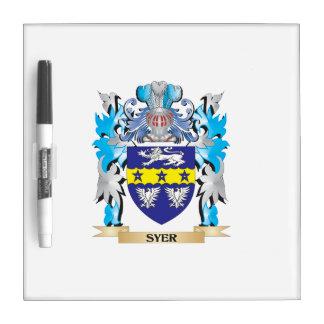 Escudo de armas de Syer - escudo de la familia Tableros Blancos