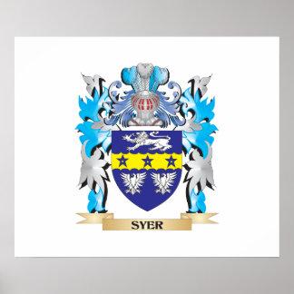Escudo de armas de Syer - escudo de la familia Póster