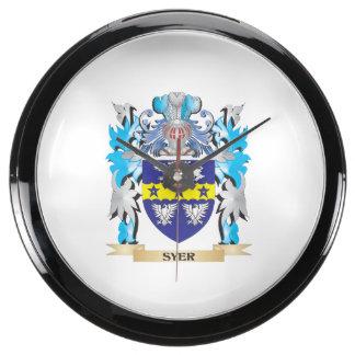 Escudo de armas de Syer - escudo de la familia Relojes Aquavista