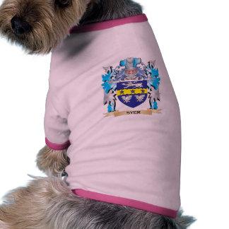 Escudo de armas de Syer - escudo de la familia Camiseta Con Mangas Para Perro