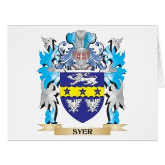 Escudo de armas de Syer - escudo de la familia Tarjeta De Felicitación Grande