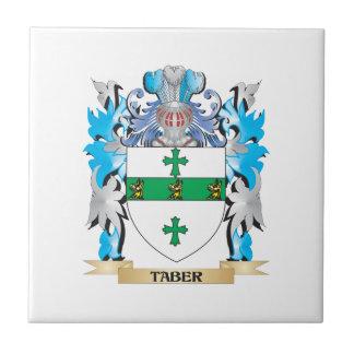 Escudo de armas de Taber - escudo de la familia Tejas Cerámicas