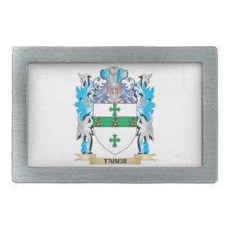 Escudo de armas de Taber - escudo de la familia Hebilla Cinturon Rectangular