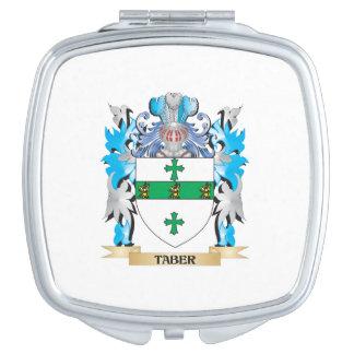 Escudo de armas de Taber - escudo de la familia Espejo Compacto