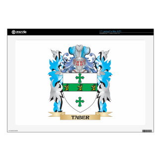 Escudo de armas de Taber - escudo de la familia Skins Para Portátil